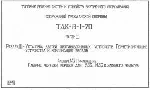 Типовой проект ТДК-Н-1-70 ч.2 а3. Установка дверей противовзрывных устройств
